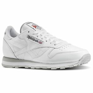 9d807865427 Reebok Classic Leather 101 White Grey Red Mens Shoes Fashion ...