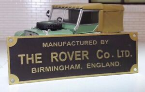 Land-Rover-Series-1-80-SWB-Bulkhead-Chassis-Brass-Rover-Factory-Plate-Plaque