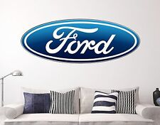 Ford Wall Decal Sports Cars Style Sticker Decor Vinyl  Many Size USA Color Art