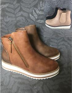Plateau Stiefeletten Boots Leicht Gefüttert Damen Stiefel Details Ankle Zu Neu Chelsea Bh93 N8nO0mvw