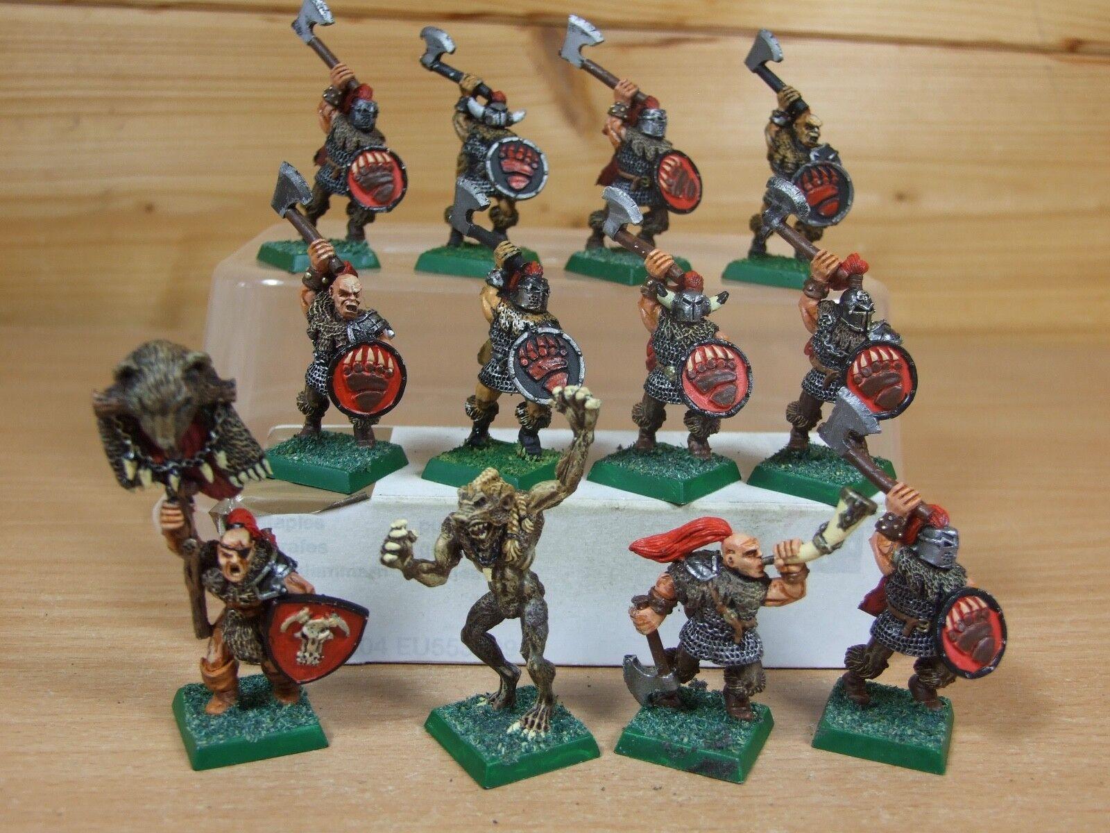 12 Classic Metal perros de guerra Beorg Bearstruck + bearmen hombres bien pintados (984)