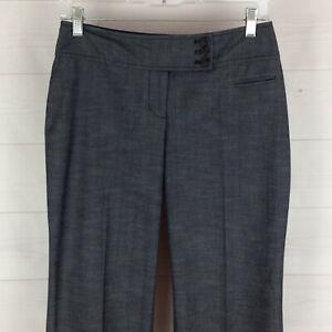 Ann-Taylor-LOFT-Julie-women-2P-stretch-blueish-gray-mid-rise-bootcut-dress-pant
