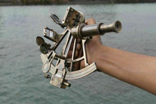 "Nautical Marine Navigational Astrolabe Instrument Brass Sextant 8/"" Antique Gift"