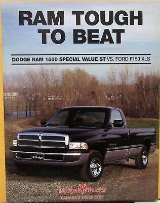 1997 Dodge Ram 1500 Special Value St Pickup Truck Canadian Sales Folder Original Ebay