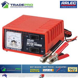 Genuine-Arlec-Battery-Charger-PRO-6-amp-12V-2-5-Amp-Auto-Car-Bike-amp-Trickle-Charge