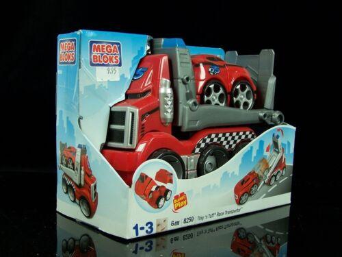 OVP MEGA BLOKS 8250 Tiny´n Tuff Auto Polizei Rennwagen Race Transporter 6-tlg