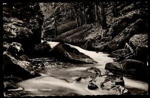 Baybachtal-Ansichtskarte-1964-gelaufen-Waldpartie-am-Fluss-River-Falls-Waterfall