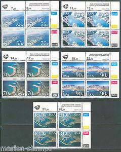 SOUTH-AFRICA-SC-844-48-HARBORS-PLATE-BLOCK-SET-MINT-NH
