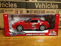 Ferrari Red 575 Zagato 60th Anniversary Foundation 1/18 Hotwheels Mattel L2960