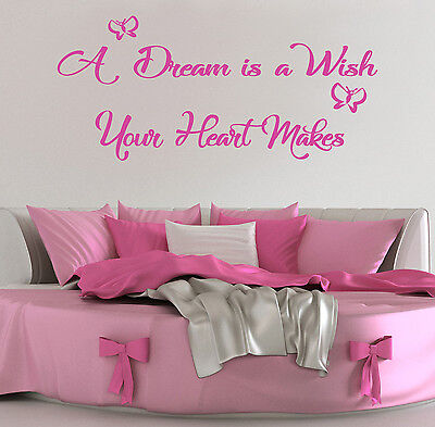 A dream is a wish your heart makes vinyl wall art sticker decal