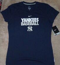 NEW MLB NY New York Yankees T Shirt Women Ladies L Large NIKE Dri Fit NEW NWT