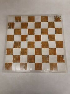 Marble-Chess-Game-Board-ONLY-About-10lbs-amp-14-034-x14-034-Vintage-Functional-Decor