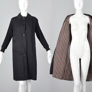 Strik Ribbed Sort Sleeves Outerwear 1960s M Cotton Coat Letvægts 60s Raglan XYaqEwB
