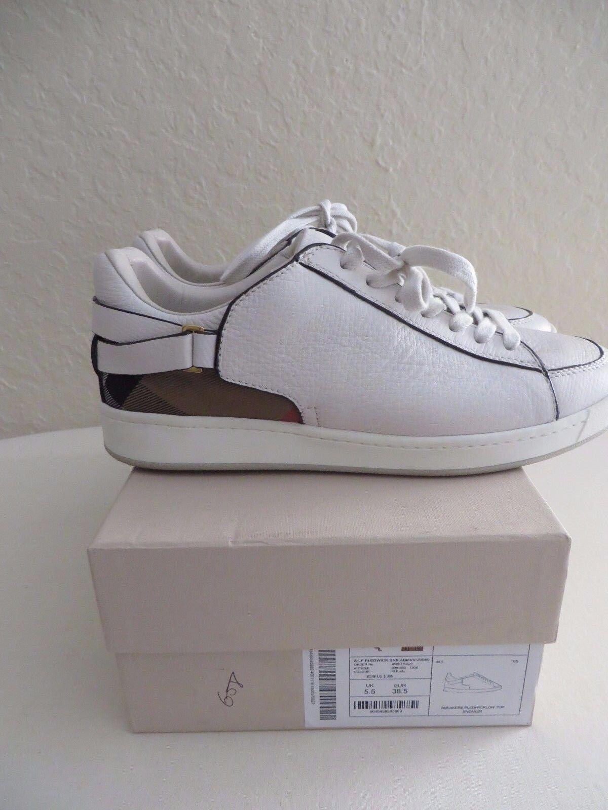 Burberry Cecilia donna  bianca scarpe da ginnastica Dimensione EUR 38 1\2 MSRP   395