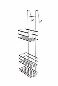 tag res suspendre 3 sans percer tag re de douche panier salle bain ebay. Black Bedroom Furniture Sets. Home Design Ideas