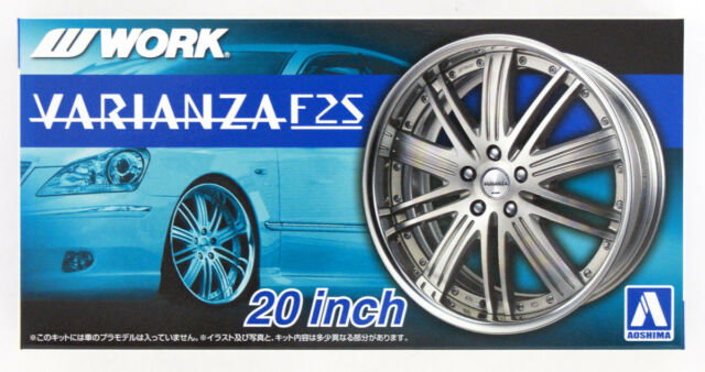 Aoshima 53003 Tuned Parts 22 1//24 Work EmotionCR KIWAMI 18inch Tire /& Wheel Set