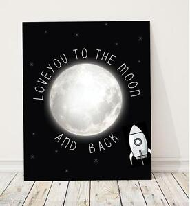 Children-039-s-Wall-Art-Print-Modern-Nursery-Decor-Love-You-to-the-Moon-and-Back