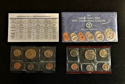 1991 P and D US Mint Uncirculated Coin Set