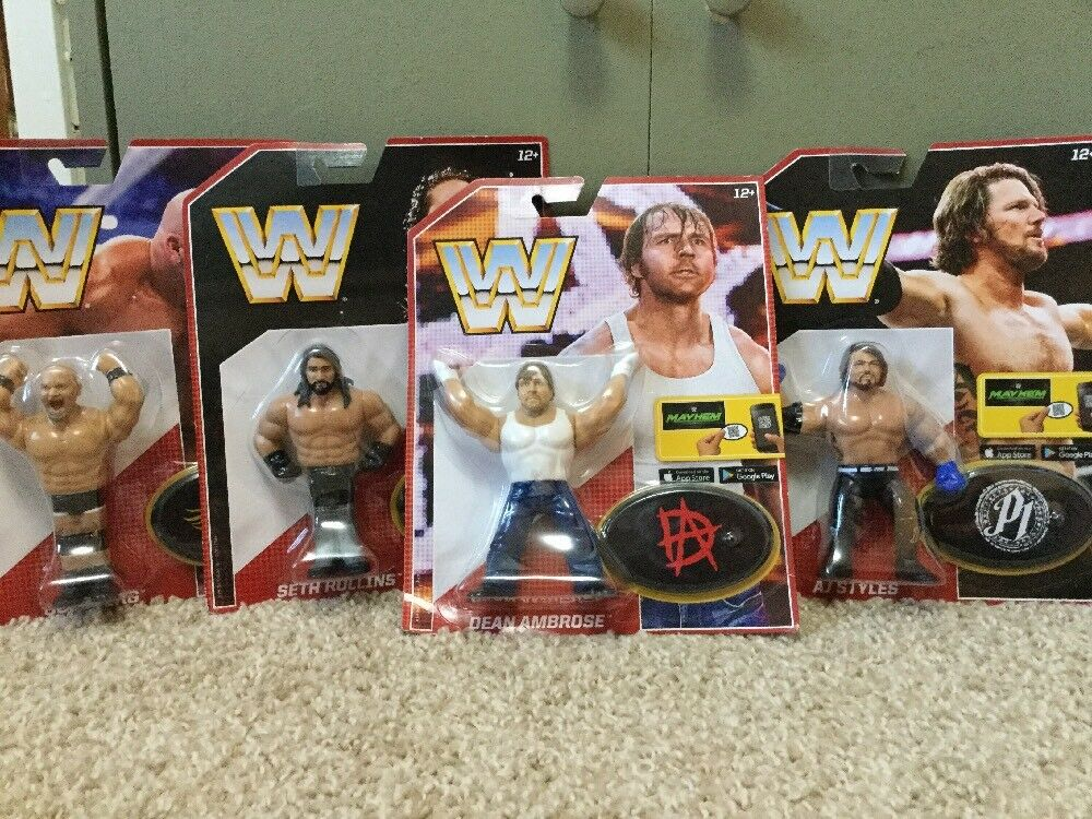 Retro Styles Ambpink goldberg Rollins Mattel WWF Series 3 WWE Like Hasbro New