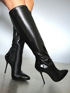 5cf660bc67adc Details zu CQ COUTURE KNEE HIGHEST HEELS BOOTS STIEFEL
