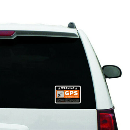 GPS Alarm System Anti-Theft Safety Decal Sticker Warning Lables Signs Car Decor