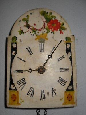 Sanft Schwarzwald Uhr Mit Kettenaufzug, Holz Gespindelt Um 1870 Schrecklicher Wert