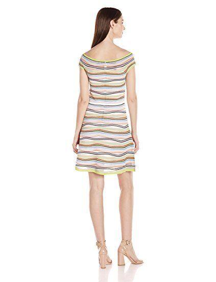 NWT Parker Paige Knit Dress, Off Shoulder, Multi Farbe Größe Small