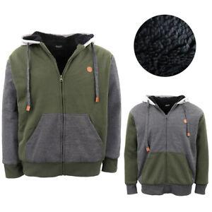 Men-039-s-Women-039-s-Two-Tone-Thick-Sherpa-Fur-Jacket-Zip-Up-Hoodie-Fleece-Coat-Jumper