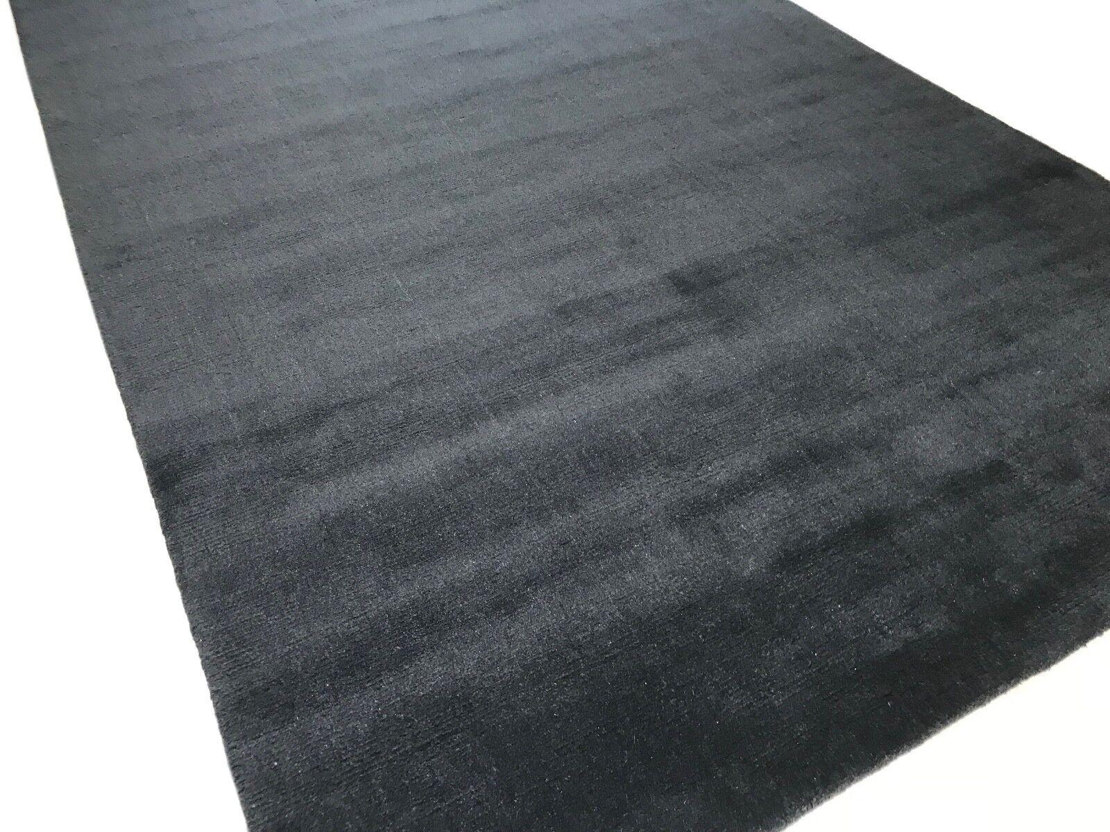 Handloom Gabbeh 200x300 cm a mano tessuti moquette 100% LANA debbich Loom BLU SCURO