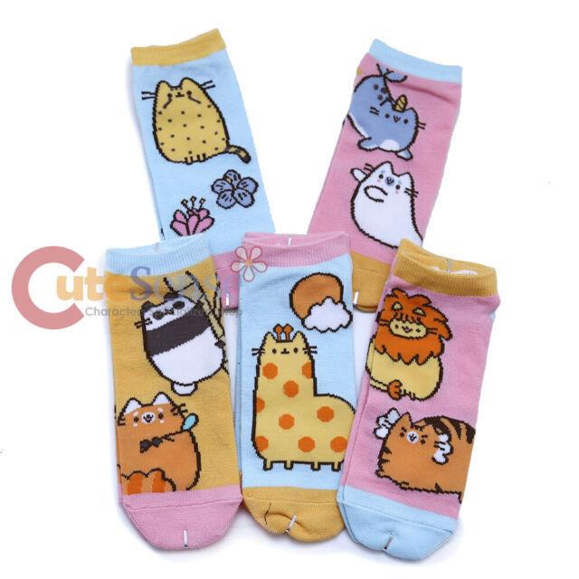 Pusheen The Cat Ankle Socks 5 Pairs Dessert Ice Cream
