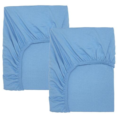 IKEA LEN Spannbettlaken Babybett Baumwolle 2 Stück hellblau 60x120cm NEU
