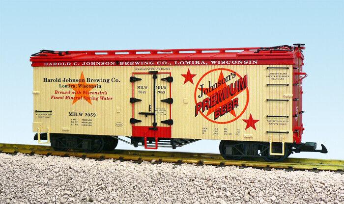 USA i treni G Scale US Reefer auto R16425 Johnson Brewing Co. Tanrosso