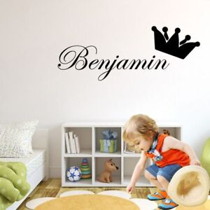 Details about Childrens Name Wall Stickers Art Personalised Home Decal for  Kids Baby Bedroom