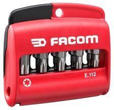 Facom 10pc Torx Bit 1/4 25mm + Bit Holder Set E.112