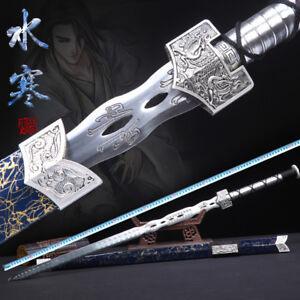 Wonderful Chinese Wushu Sword KungFu Han Jian High Manganese Steel Blade Full Ta