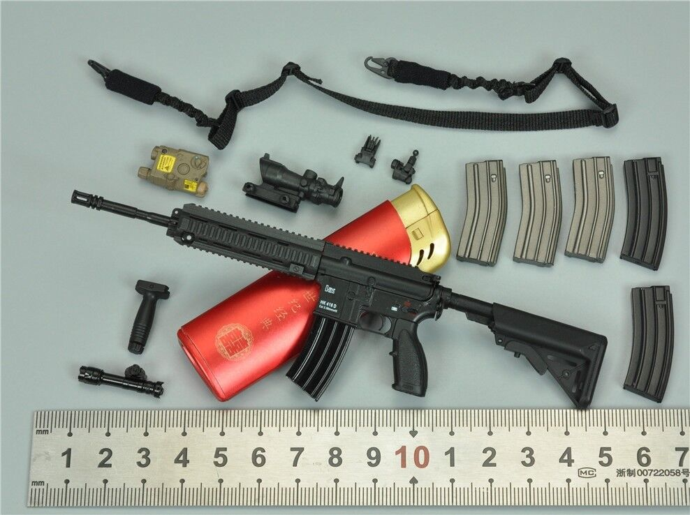 HK416 Assault Rifle Set for DAM 78051 Naval Mountain Warfare Special Forces 1/6