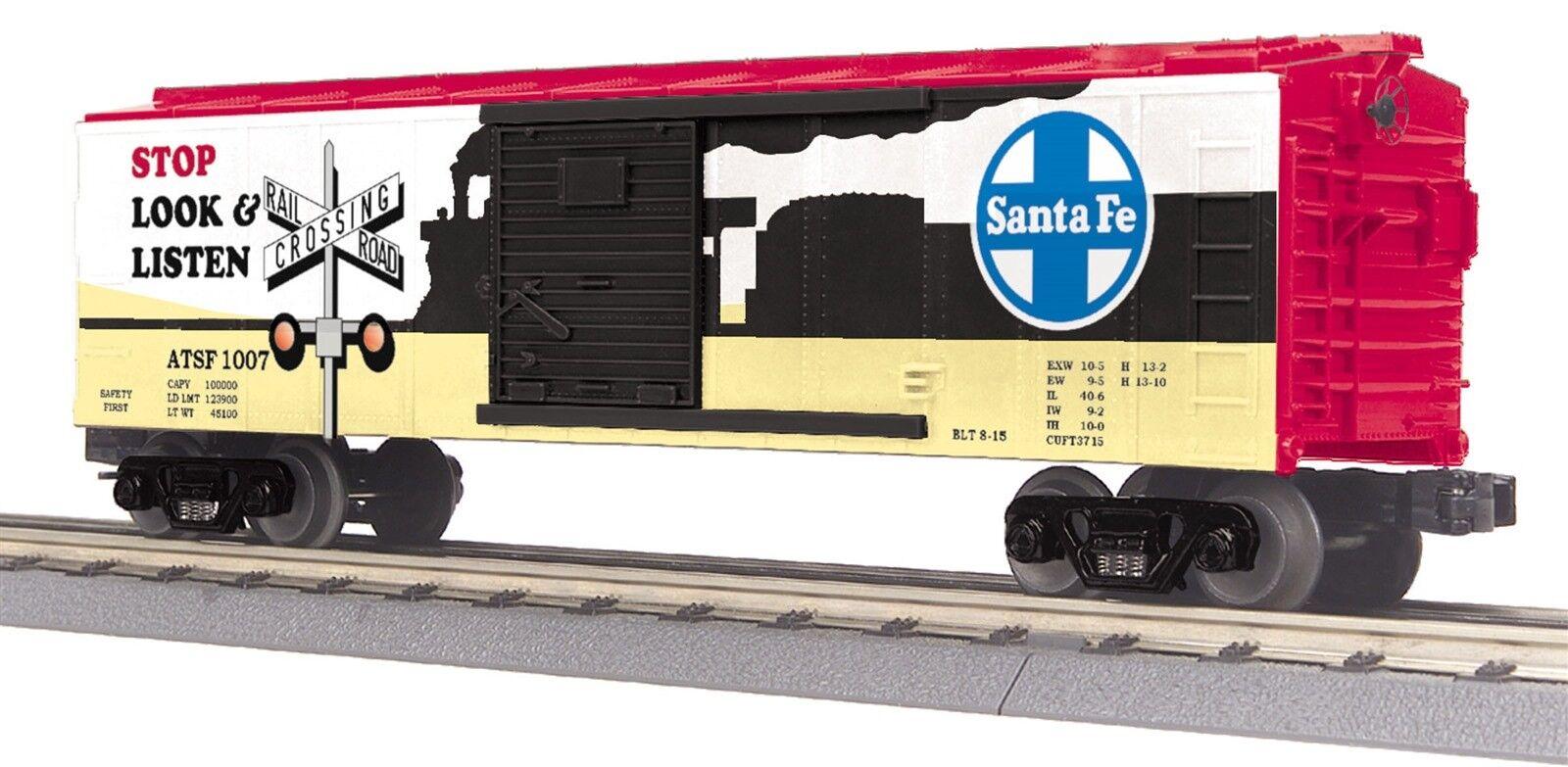 MTH RailKing 30-74829 Santa Fe Box Car With Blinking LEDs O Gauge Model Trains