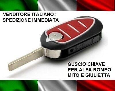 GUSCIO COVER CHIAVE PER TELECOMANDO 3 TASTI ALFA ROMEO MITO GIULIETTA ROSSO