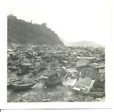 1961 original photo Repulse Bay Aberdeen Harbor Hong Kong Boat People Sept.