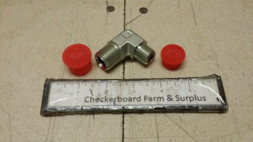 """NOS Parker Pipe /& Port 90°  Elbow Fitting 1//2X3//8-CR-S 375-CR-S 1//2/"""" X 3//8/"""" MRAP"""