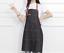 Denim Leather Strap Bib Apron Barista Baker Bartender BBQ Chef Unisex Uniform