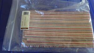 "Longaberger Set of Two Market Stripe 19"" Fabric Square Napkins - NEW"