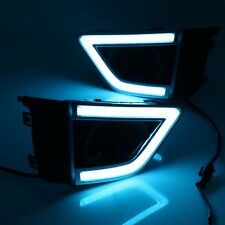 For Honda Fit Jazz 2014-2016 2PCS ICE Blue/Amber/White DRL + 2PCS Fog Lamp