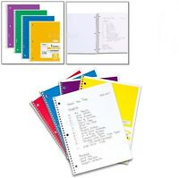 Notebook 70 Sheet 4 Pack Spiral Note Book Wide Ruled Paper School Office Subject