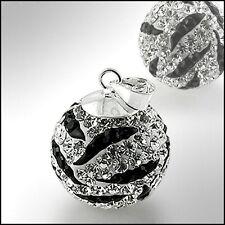 Sterling Silver Swarovski Crystal Ball Pendant Choose Colour & Size 6mm - 20mm