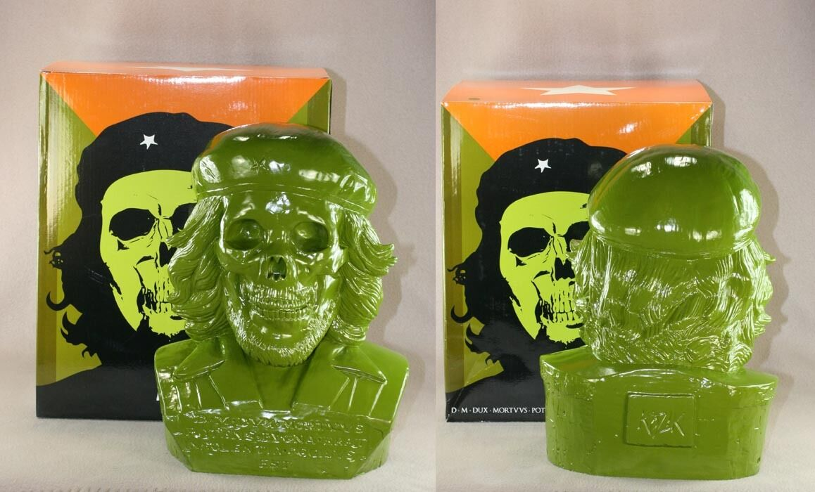 Frank Kozik 16  2010 verde muerto Che Busto Edición Limitada 50 Figura de Vinilo Ultraviolence Nuevo