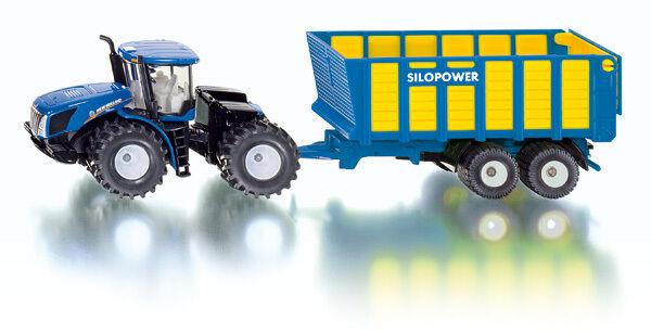 Tractor con Carro de Ensilaje, Siku Agricultor 1:50 , Art.1947, Novedad 03/2013