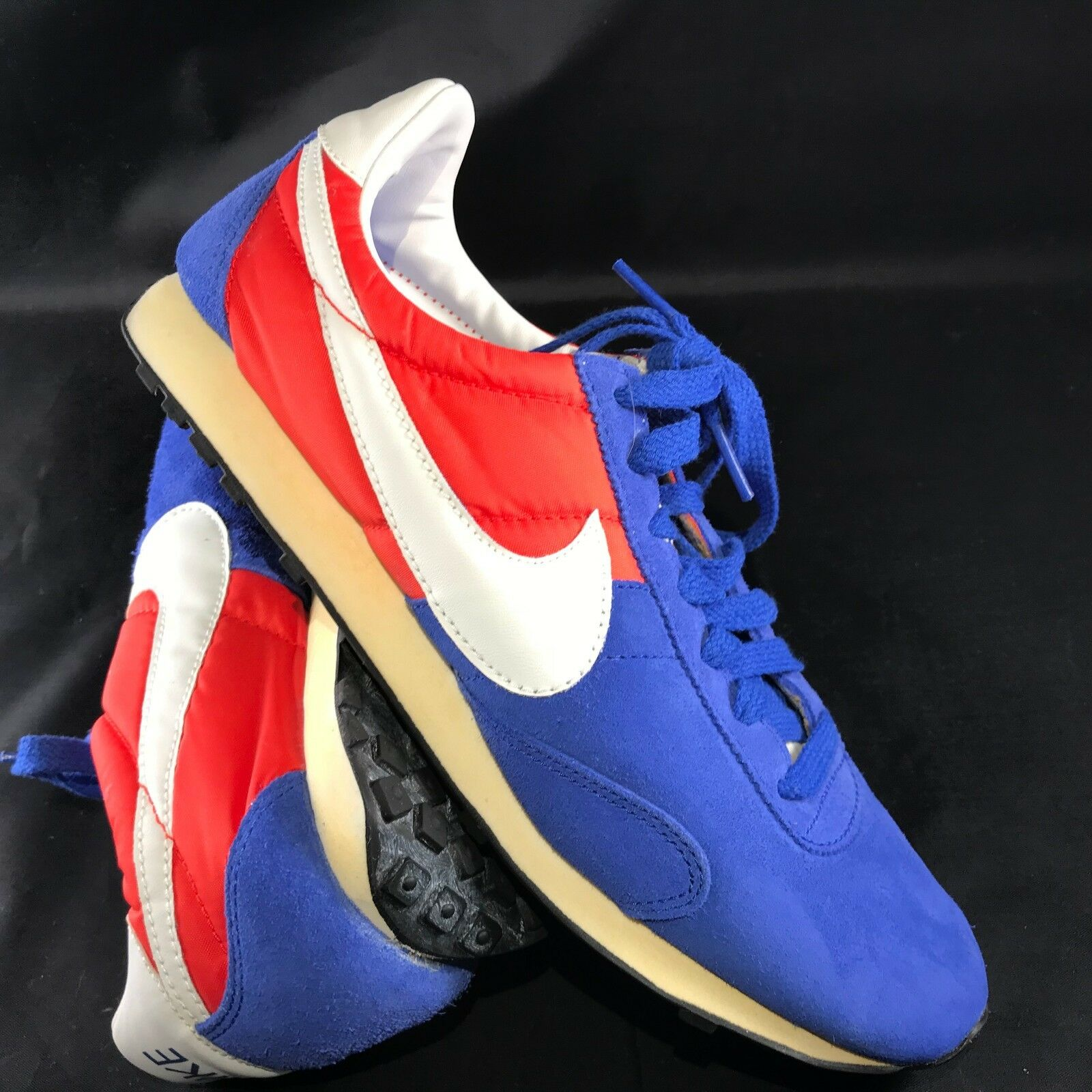 MENS NIKE PRE MONTRAL RACER 476717 400 US SZ 8.5 RUNNING SHOES blueeE RED WHITE