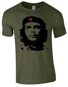 Che-Guevara-Face-Silhouette-Iconique-retro-revolution-politique-Cuba-Hommes-T-Shirt
