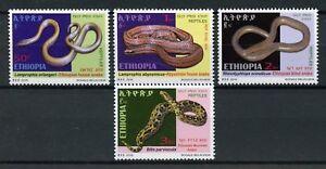 ETHIOPIE-DE-2016-neuf-sans-charniere-serpents-House-Serpent-Vipere-Serpent-aveugle-4-V-Set-Reptiles